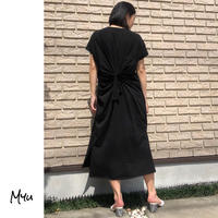 【LADIES】Back Design Side Slit Dress バックデザイン サイドスリット ワンピース