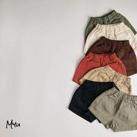 【90-130】Cotton Simple Short Pants コットンシンプルショートパンツ