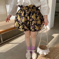 【90-150cm】CULOTTES レトロ柄 ジャガード バルーンキュロット