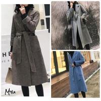 受注発注🇰🇷【LADIES】Wool wrap coat