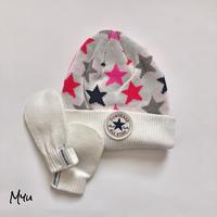 【12-24M】CONVERSE Hat&Mitten Set コンバース ニット帽とミトンセット