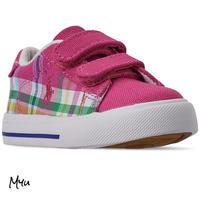 受注発注【12〜17cm】Polo Ralph Lauren EastenⅡEZ plaid casual sneakers