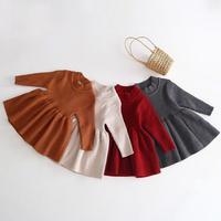 【66-110cm】DRESS シンプルリブニットワンピース