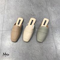 【22.5-25cm】Dull Color Mule Loafer くすみカラーミュールローファー