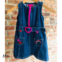 【110/120cm】BETSEY JOHNSON Denim  overalls