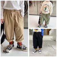 【80-130cm】Straight Pants ストレートパンツ