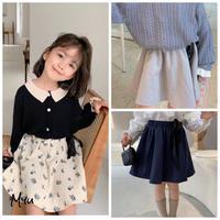 【80-150cm】Waist Bow Skirt ウエストリボン スカート