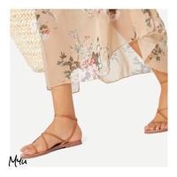 受注発注【Ladies】Strappy design PU flat sandals