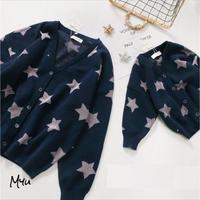 受注発注🇰🇷【親子 80〜140cm】Star cardigan