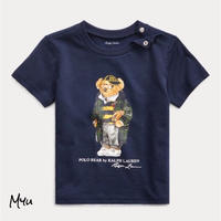 受注発注🇺🇸【70-90cm】Polo Ralph Lauren Football Bear Cotton Tee