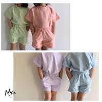 【80-150cm】Pastel Color Cotton Set Up パステルカラー コットン セットアップ