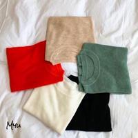 受注発注🇰🇷【LADIES】Crew neck half sleeve knit