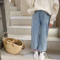 【80-150cm】JEANS ワイドジーンズ