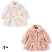 受注発注🇺🇸【50-90cm】Calvin Klein emboss faux-fur coat