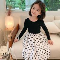 【80-150cm】Cotton Twill Dot Skirt コットンツイル ドットスカート