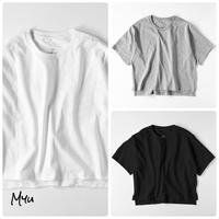 受注発注【LADIES】Myu Original Basic / Side Slit Back Long Solid T-shirt サイドスリットバックロングTシャツ