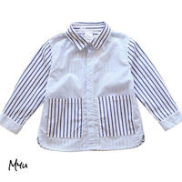 受注発注【80〜130cm】Design stripe shirt