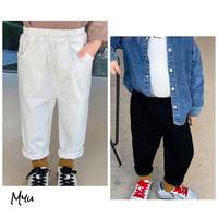 【80-130cm】PANTS シンプル コットン パンツ