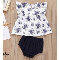 お急ぎ便対応 受注発注🇺🇸【70-100cm】Floral Print Top & Shorts