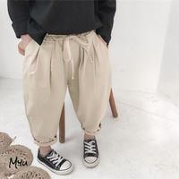 【90-130cm】Tuck Roll-up Pants タックロールアップパンツ