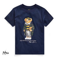 受注発注🇺🇸【95-130cm】Polo Ralph Lauren Football Bear Cotton Tee