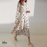 受注発注🇰🇷【LADIES】High Waist Print Dress