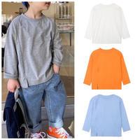 【80-140cm】TOPS スリット ロングTシャツ