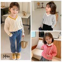 【80-140cm】Cable  Tilden Sweater  ケーブル チルデンセーター