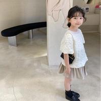 【80-150cm】TOPS デザイン 半袖ブラウス