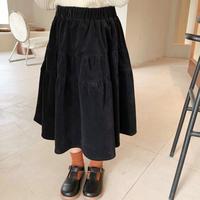 【80-150cm】SKIRT コーデュロイ ティアード ロング スカート