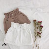 【80-120cm】Gather High Waist Skirt ギャザーハイウエストスカート