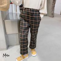 【80-150cm】PANTS タータンチェック  パンツ
