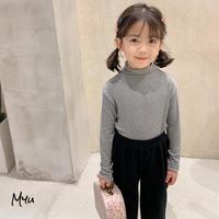 【90cm】TOPS スタンドフリル ハイネックロングTシャツ