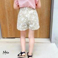 【80-140cm】Daisy Casual Short Pants デイジー柄カジュアルショートパンツ