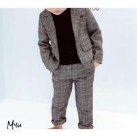 【90〜140cm】SET UP チェック柄ジャケット&パンツ