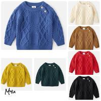 受注発注🇰🇷【90〜140cm】Cable knit pullover