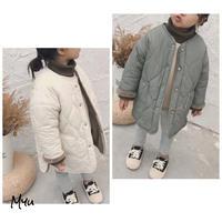 【90-130cm】COAT 裏ボア ノーカラー キルティング コート