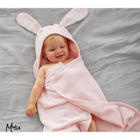 お急ぎ便対応 受注発注🇺🇸【BATH WRAP】Pottery Barn  Bunny nursery bath wrap PURPLE