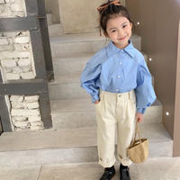 【80-150cm】SHIRT 袖タックシャツ