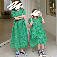 【LADIES】DRESS パフスリーブティアードワンピース