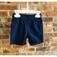 【80/90cm】Navy simple short pants