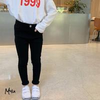 【80-150cm】PANTS  裾切りっぱなし スーパーストレッチパンツ