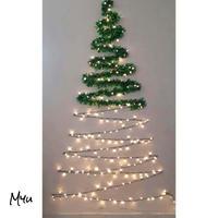 受注発注🇺🇸 Wall Christmas Tree String Light