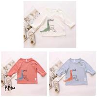 受注発注【80〜110cm】Dinosaur embroidery long sleeve T-shirt