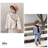 受注発注【80-140cm】Tweed Jacket ツイードジャケット