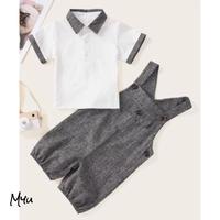 お急ぎ便対応 受注発注 🇺🇸【68-92cm】Contrast Binding Polo Shirt & Salopette