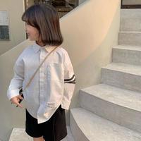 【80-150cm】SHIRT ライン シンプルシャツ