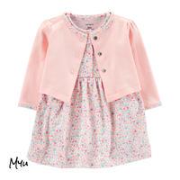 お急ぎ便対応 受注発注🇺🇸【50〜80cm】carter's 2-piece floral bodysuit dress&cardigan set