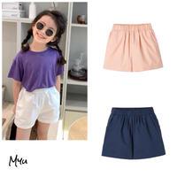 【80-150cm】Simple Casual Short Pants シンプルカジュアルショートパンツ
