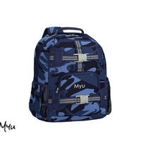 お急ぎ便対応pottery barn kids【Mini】Mackenzie Blue Skateboard Camo Backpack
